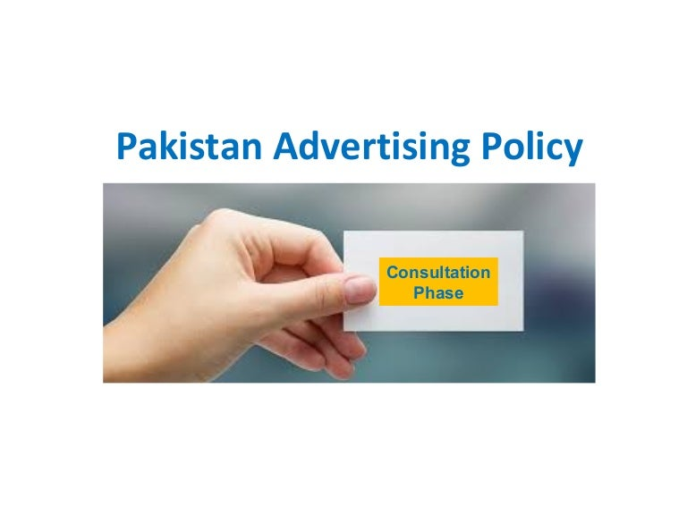 Pakistan Advertising Policy