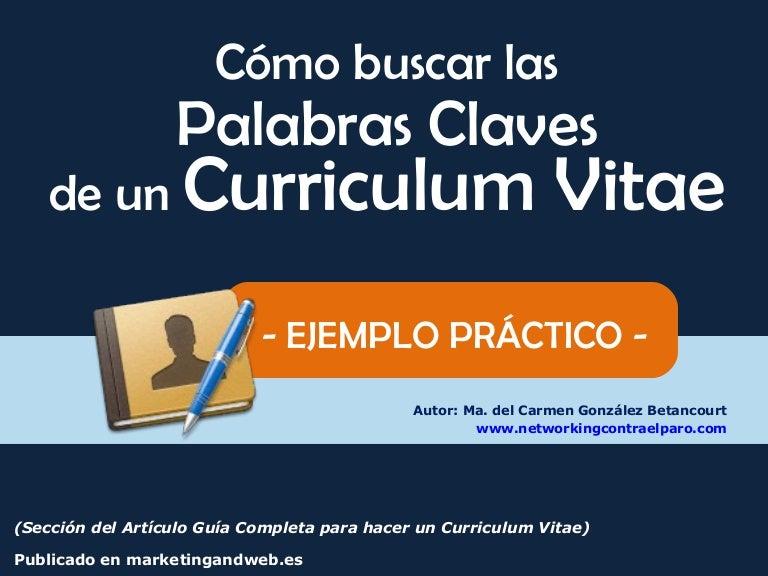claves para curriculum vitae con ejemplo practico infoempleo