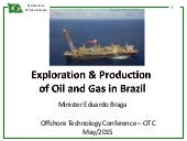 Exploration & Production of Oil and Gas in Brazil no Offshore Technology Conference – OTC