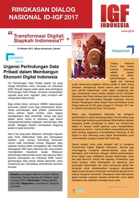 SUMMARY DIALOG NASIONAL ID-IGF 2017 (BAHASA)