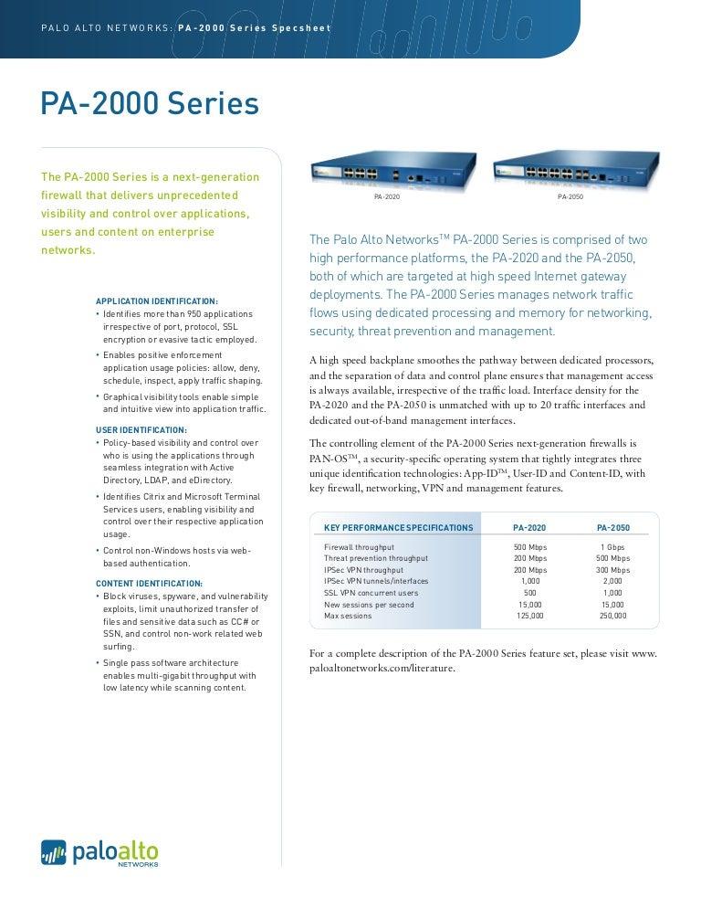 PAN PA2000 series
