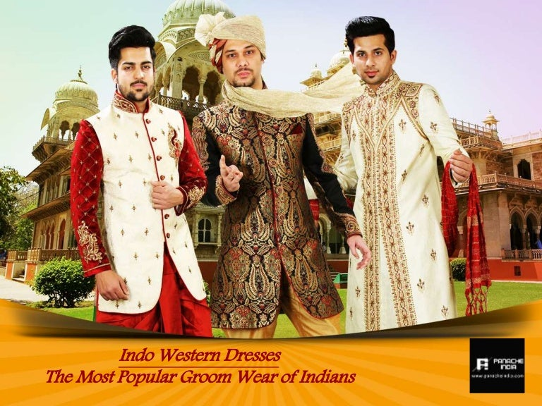 Panache India Designer Groom Indo Western Party Wear For Men