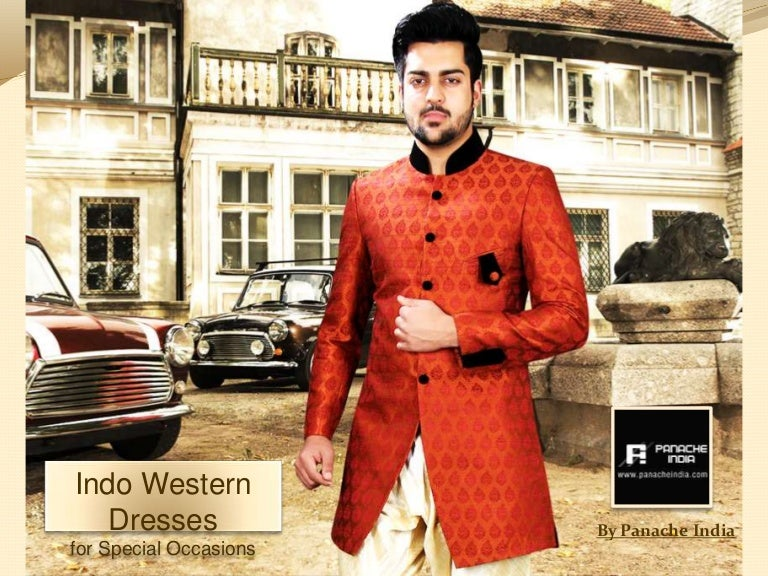 Panache india indowestern dresses party wear indo western for Indo western wedding dress for men