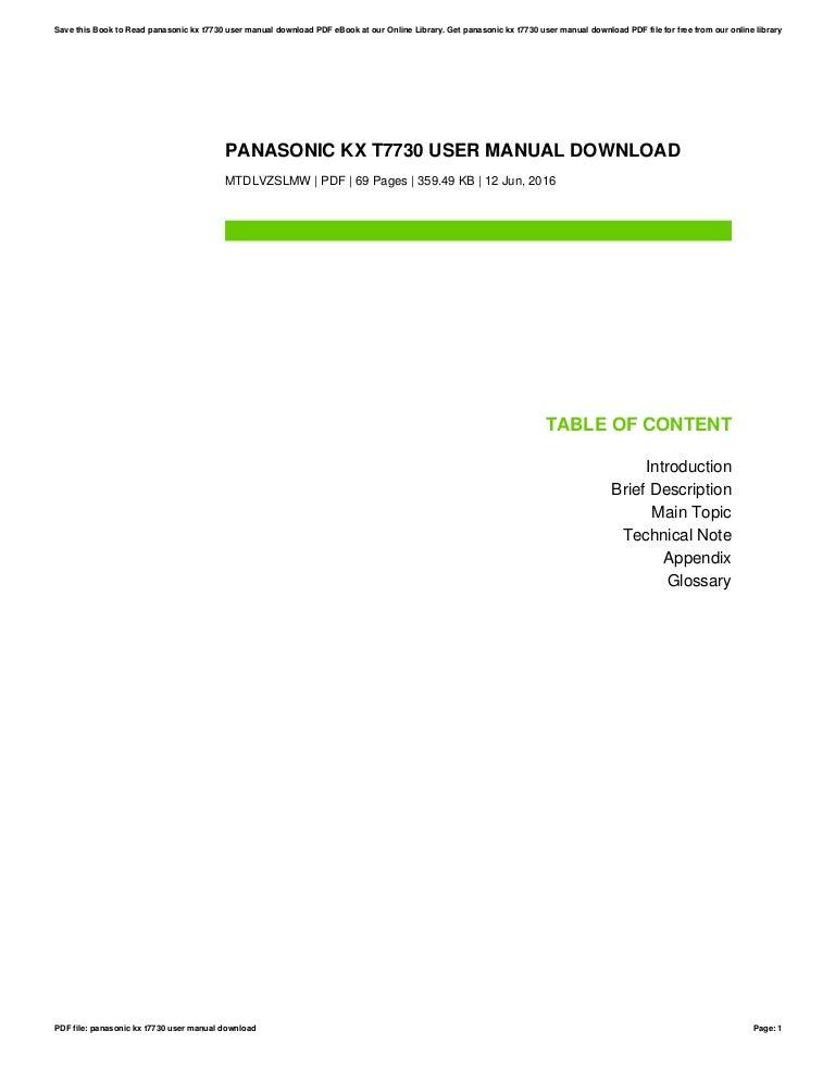 panasonic kx t7730 user manual download rh slideshare net panasonic kx-t7730 user manual panasonic kx-t7730 user manual guide