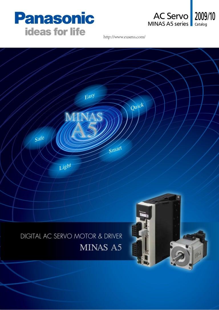 Panasonic Servo Motor A5 Catalog Wiring Diagram