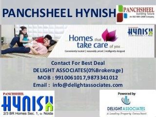 Panchsheel Hynish Greater Noida 2,3 BHK @ 3315/- Booking 9910061017(0% Brokerage)