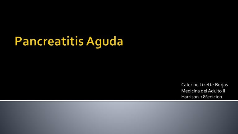 pancreatitis aguda cronica pdf