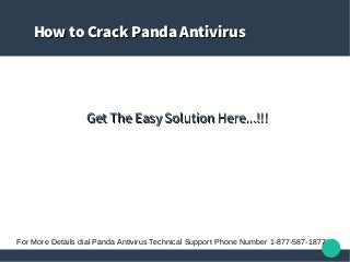Panda Antivirus Technical Support 1-888-828-5947- Toll Free Phone Number