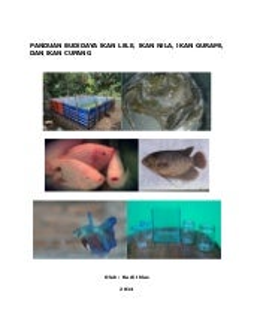 Panduan Budidaya Ikan Lele Ikan Nila Ikan Gurami Dan Ikan Cupang