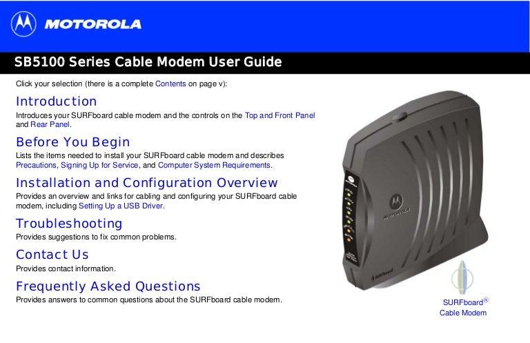 panduan pelanggan fast net cable modem motorola sb5101 rh slideshare net Motorola Modem Lights Motorola SB5101 Modem