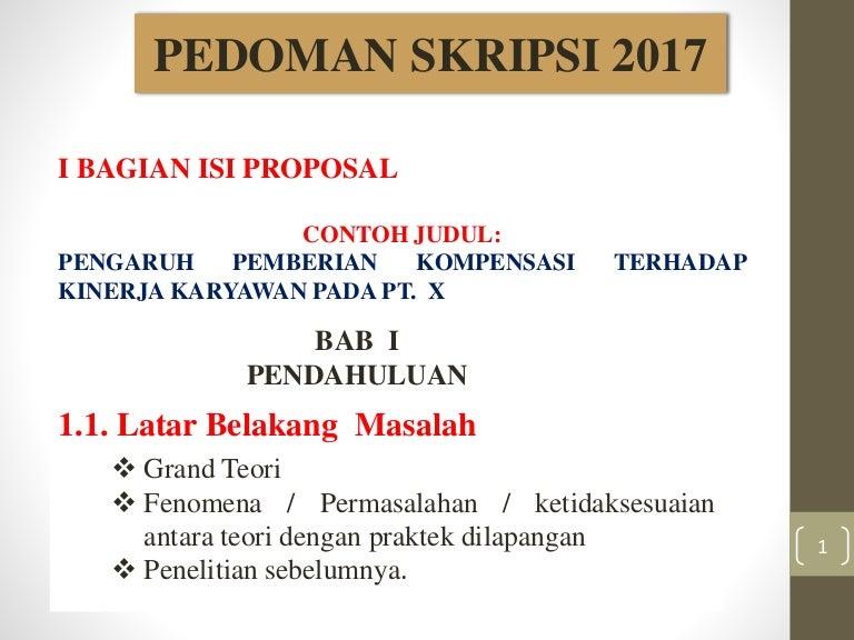 Panduan Proposal Sekripsi 2017