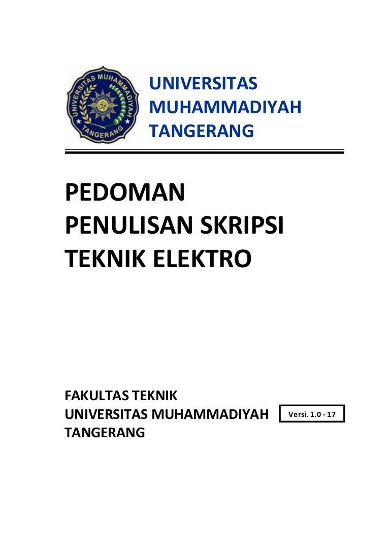 Panduan Skripsi Teknik Elektro Ft Umt