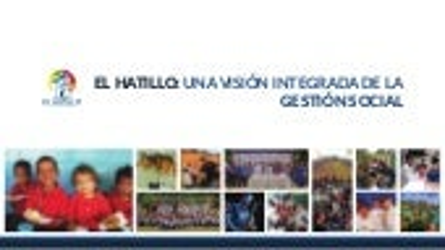 Una visión integrada de lo social en el Hatillo.