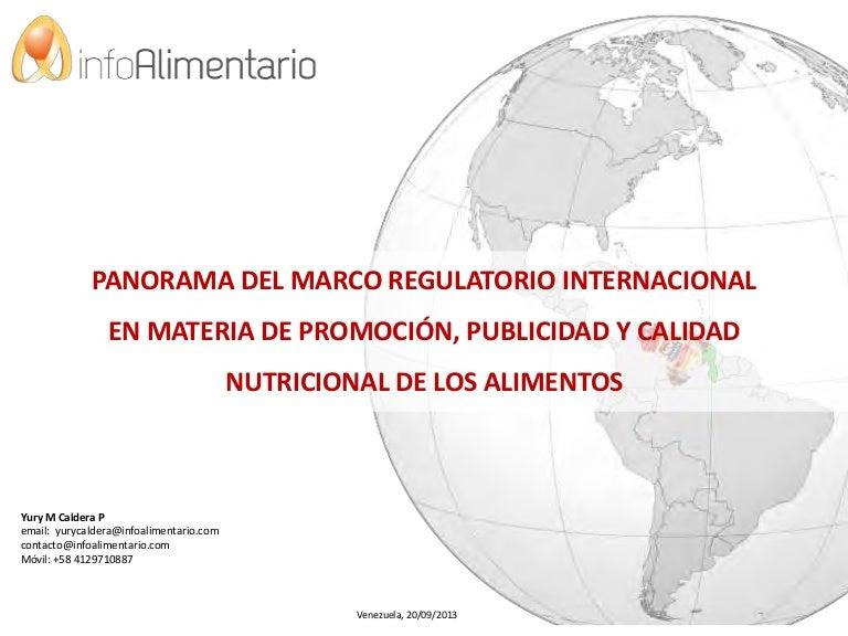 MARCO REGULATORIO INTERNACIONAL EN MATERIA DE PROMOCIÓN, PUBLICIDAD …