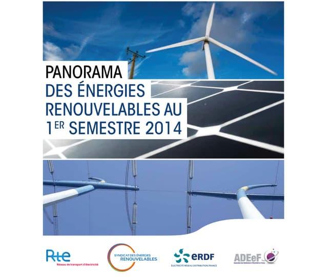 Panorama des énergies renouvelables au 1er semestre 2014