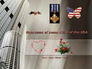 Panorama of some cities USA