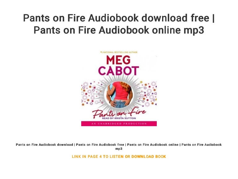 Download Pants On Fire By Meg Cabot