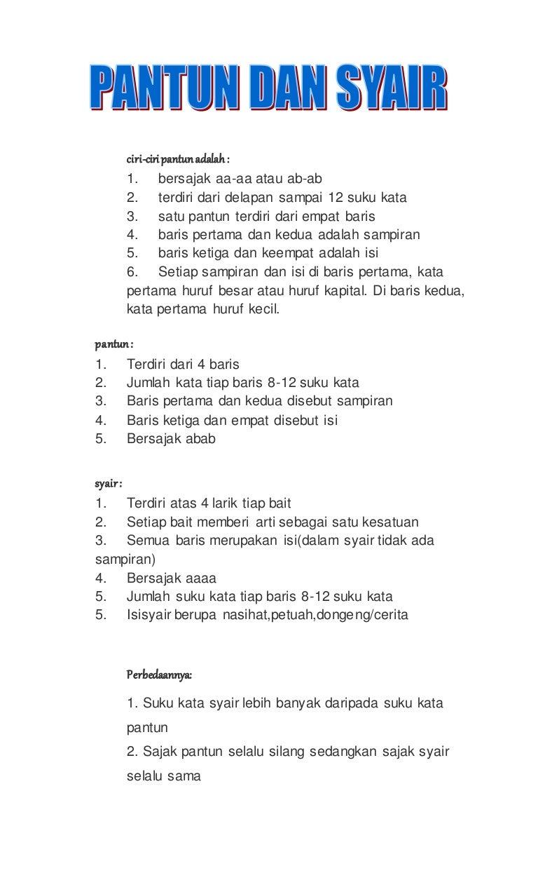 Contoh Puisi 1 Bait 4 Baris Bersajak Abab - KT Puisi