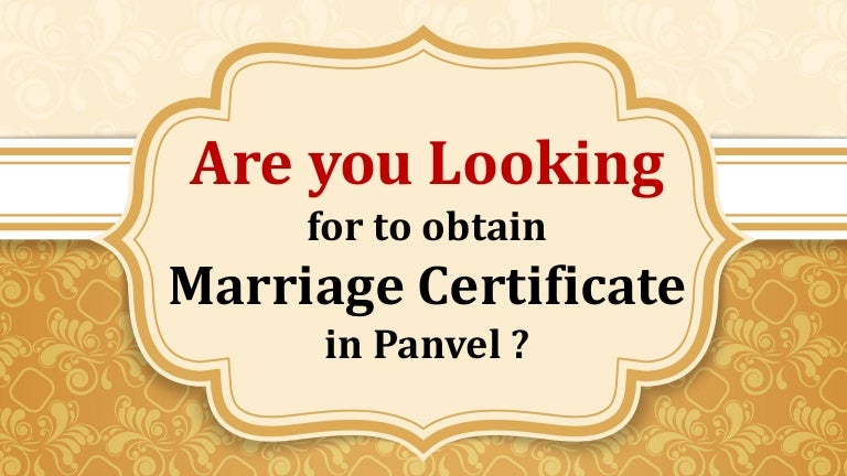 Apply Marriage Certificate Online In Panvel Navi Mumbai Contact Po