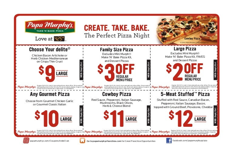 graphic relating to Papa Murphys Coupons Printable named 100+ Papa Murphy Coupon Code September 2018 yasminroohi