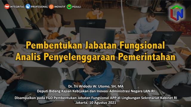 Pembentukan JF Analis Penyelenggaraan Pemerintahan