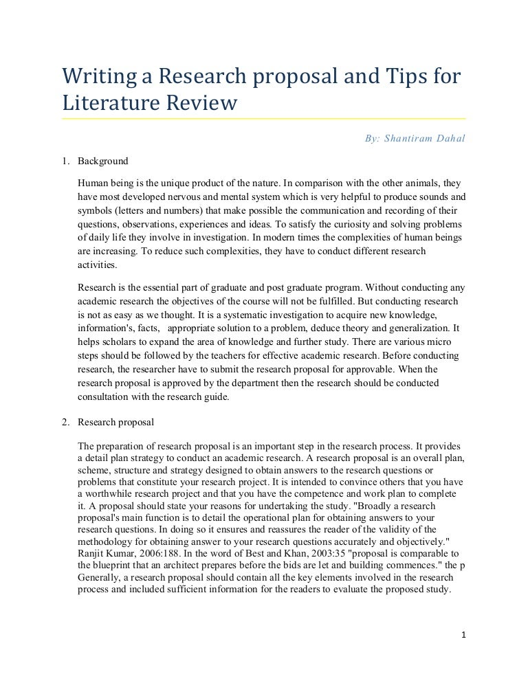 Critique dissertation proposal