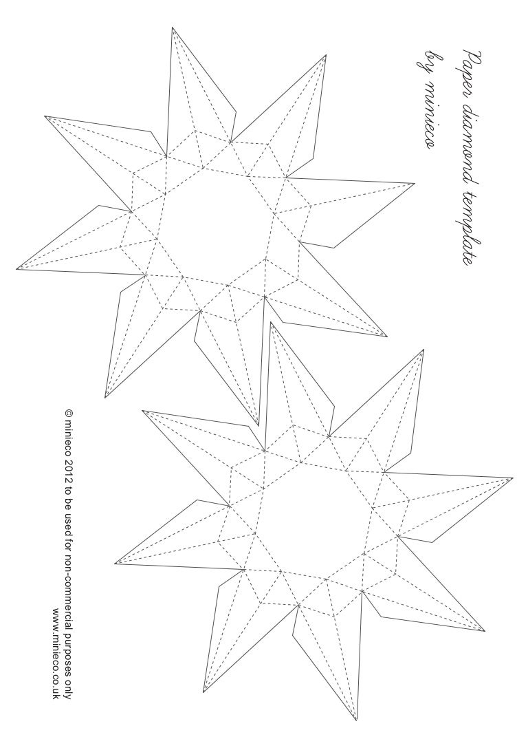 Template Paper | Paper Diamond Template