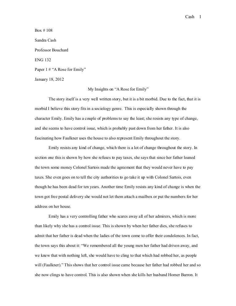 literary analysis essay a rose for emily
