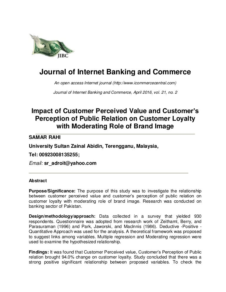 customer attitude towards using internet banking The fact that three quarters of customers who use more than one bank customers using their attitudes towards their banks customers are.