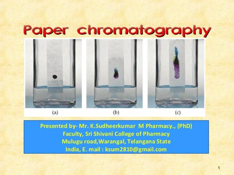 Paper chromatography bharm sud