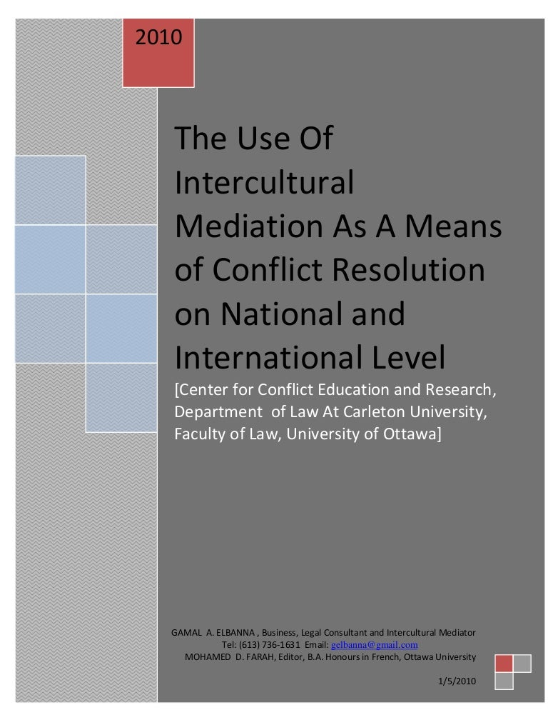conflict resolution final paper A well-crafted resolution can deliver the final punch to your paper and will help your reader understand the message you want to convey or the lessons you learned from the experience about which you have written.