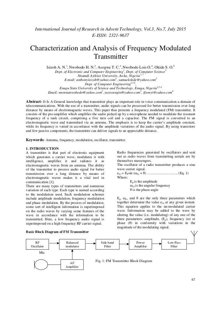 Paper Id 36201528 Figure 1 5 Fm Transmitter Block Diagram We Can Make Ssb Even More