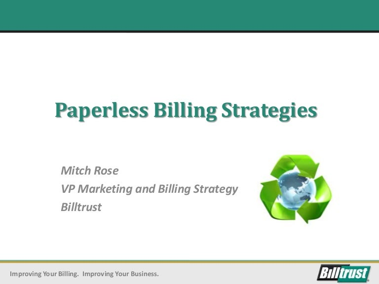 Paperless Billing Strategy For BC - Paperless invoice software