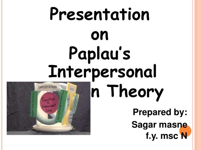 Peplau's theory of interpersonal relations: hildegard. E. Peplau.