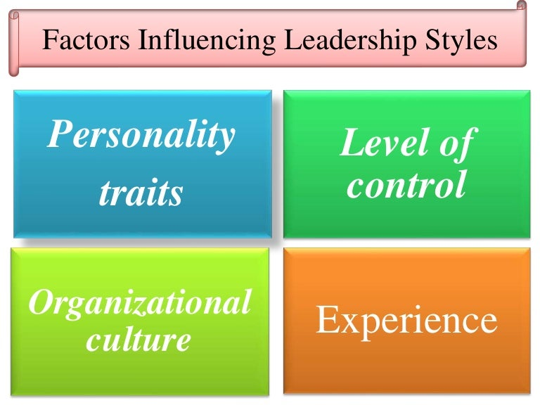 Factors afect leadership style