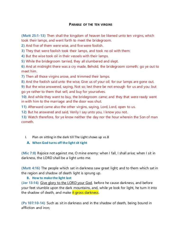 year virgins ten plan