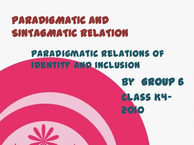 what is a paradigmatic individual