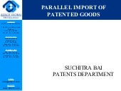 Parallel import of patented goods