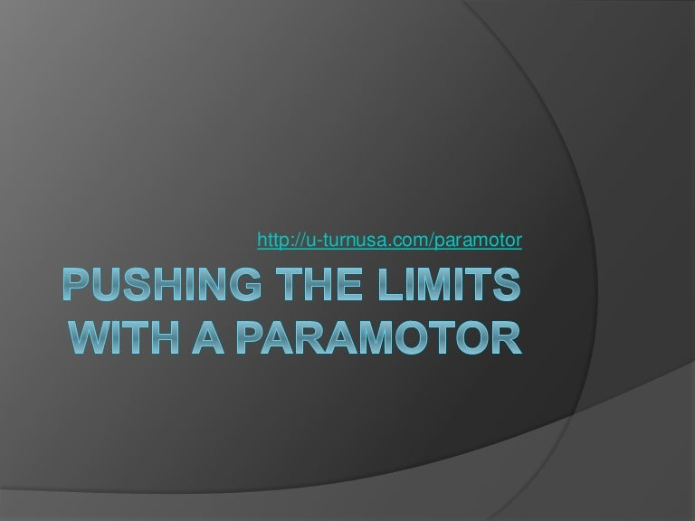 The Cheapest Wings in the Sky: A Paramotor