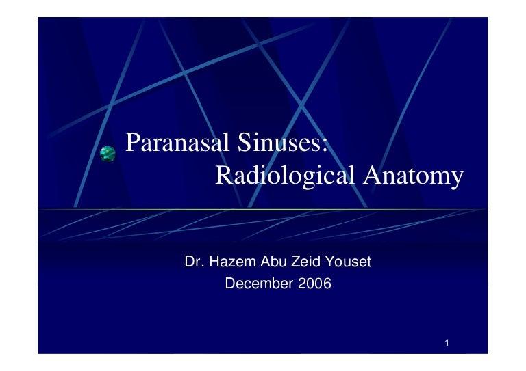 Ct Anatomy Of The Paranasal Sinuses