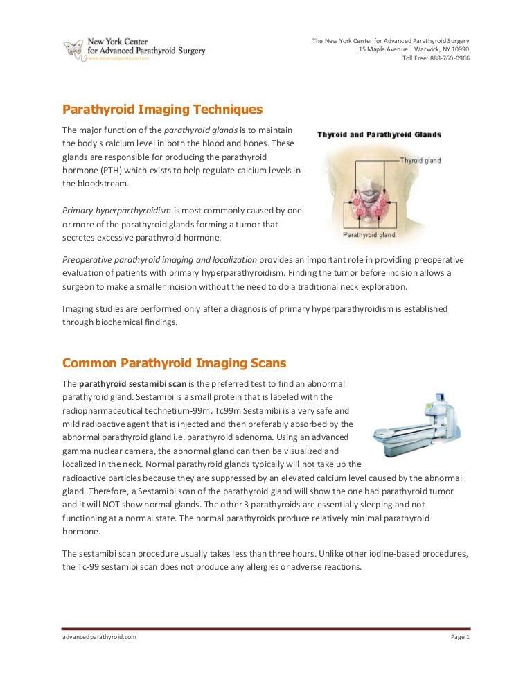 Parathyroid Imaging Techniques