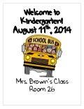 Parent packet kindergarten 2014 presentation