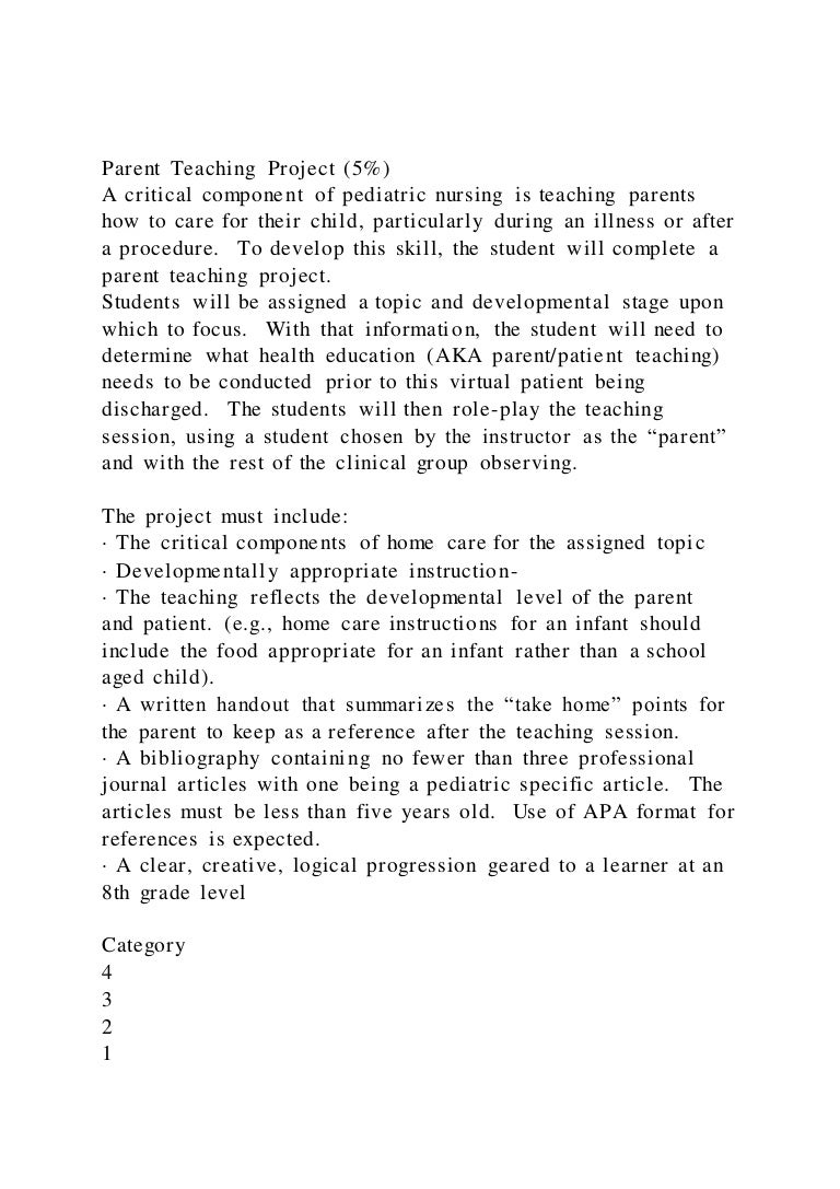 parentteachingproject5acriticalcomponentofpediatricnu 211013121558 thumbnail 4