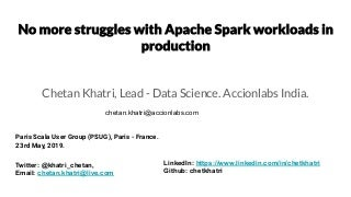 No more struggles with Apache Spark workloads in production