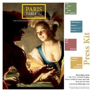 Paris Tableau 2014 - From 13 to 16 November - Press kit EN
