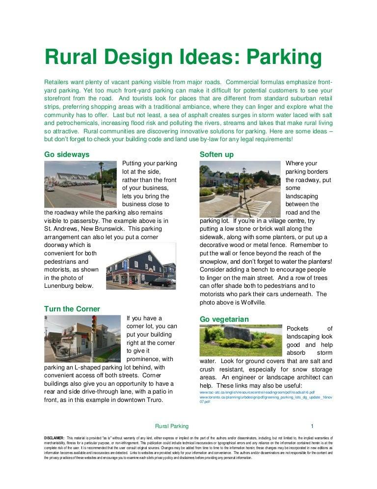 Rural Design Ideas Parking