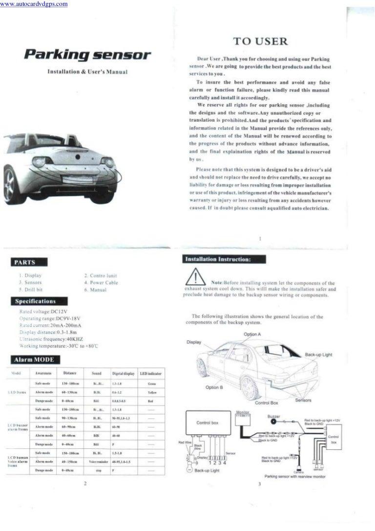 Autocardvdgps install the parking sensors buy it now on :www.autocardvdgps