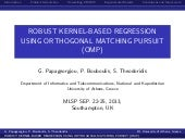 Robust Kernel-Based Regression Using Orthogonal Matching Pursuit
