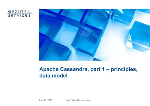 Apache Cassandra, part 1 – principles, data model