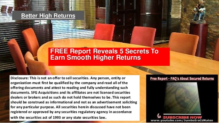 SUPER JUMBO CD RATES | FREE Report Reveals 5 Secrets To Earn
